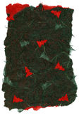De geïsoleerdeg Textuur van het Rijstpapier - Kerstmis Groene  Royalty-vrije Stock Foto's