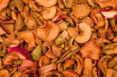 Textuur van droge appelplakken Stock Foto's