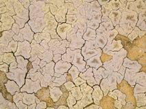 Textuur van droge modder royalty-vrije stock afbeeldingen