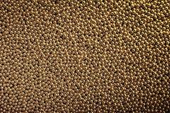 Textuur van duizend gouden ballen. Royalty-vrije Stock Foto