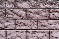 Textuur van een bruine decoratieve bakstenen muur Kan als backg worden gebruikt Royalty-vrije Stock Afbeeldingen