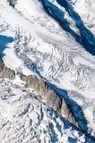 Textuur van een Gletsjer Stock Foto's
