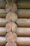 Textuur van een logboekmuur Stock Foto