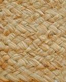 Textuur van een mand die van graskoord wordt geweven Stock Afbeelding