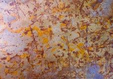 Textuur van een oude ijzeroppervlakte Royalty-vrije Stock Afbeelding