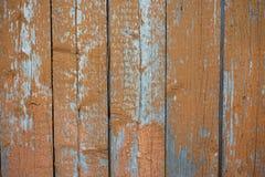 Textuur van een oude oranje houten muur Rotte raad royalty-vrije stock afbeelding
