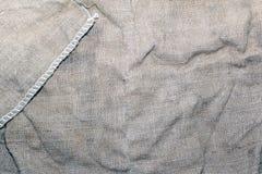 Textuur van een oude vuile aardappelzak Royalty-vrije Stock Foto's
