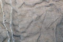 Textuur van een oude vuile aardappelzak Royalty-vrije Stock Afbeeldingen