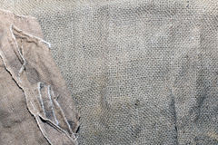 Textuur van een oude vuile aardappelzak Stock Afbeeldingen