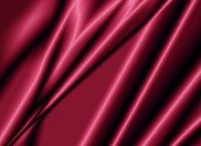 Textuur van een rode zijdestof Royalty-vrije Stock Afbeeldingen