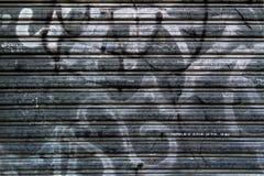 Textuur van een rollend blind in de oude stad Stock Afbeelding