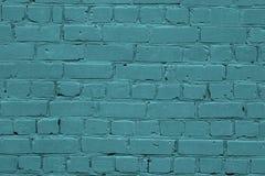 Textuur van een turkooise bakstenen muur Groene textuurbakstenen muur De turkooise achtergrond van de bakstenen muurtextuur Ardui royalty-vrije stock afbeelding
