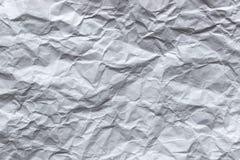 Textuur van een Verpletterd Witboek royalty-vrije stock fotografie