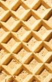 Textuur van een wafeltje stock afbeeldingen