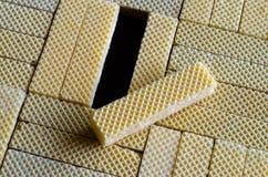 Textuur van een wafeltje 03 stock foto's