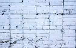 Textuur van een witte bakstenen muur, een deel van een oud gebouw stock foto