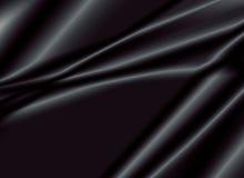 Textuur van een zwarte zijdestof Royalty-vrije Stock Afbeelding