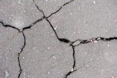 Textuur van gebarsten asfalt royalty-vrije stock foto