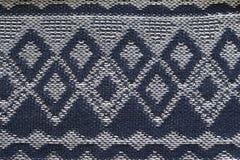 Textuur van gebreid wit en blauw voorgekomen materieel royalty-vrije stock afbeelding