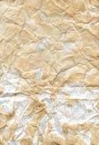 Textuur van gekreukt document royalty-vrije stock afbeeldingen