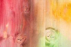 Textuur van geschilderde multi gekleurde Houten Plankenachtergrond Stock Foto's