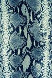 Textuur van gestreept de slangleer van de drukstof stock foto