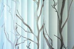Textuur van gordijn en verticale jaloezie Royalty-vrije Stock Afbeeldingen