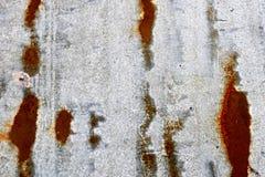 Textuur van grijs oud sjofel geoxydeerd metaal, ijzer met roestige strepen en patronen royalty-vrije stock foto's