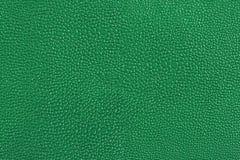 Textuur van groen leer Stock Afbeelding