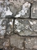 Textuur van grote oude grijze bakstenen stock afbeeldingen