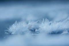 Textuur van het bevroren meer, Stock Afbeeldingen