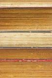 Textuur van het boekpagina's van de close-up de oude. Royalty-vrije Stock Fotografie