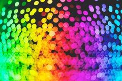 Textuur van het de verlichtingsbehang van regenboog defocused de kleurrijke bokeh, illustratie Stock Afbeelding