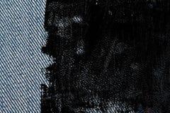 Textuur van het Grunge de vuile Denim met rode naad voor jeansachtergrond Royalty-vrije Stock Afbeelding