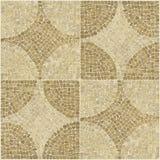 Textuur van het het patroon de bruine mozaïek van Sardis. royalty-vrije stock afbeelding