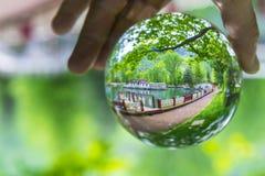 Textuur van het landschap met het gebied van het kristalkwarts Stock Foto's
