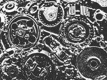 Textuur van het nood de oude geroeste metaal vector illustratie