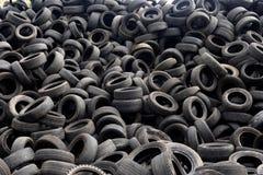 Textuur van het recycling van banden stock afbeeldingen