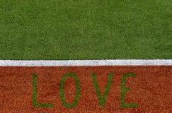 Textuur van het sportterrein van de kruiddekking Gebruikt in tennis, golf, honkbal, hockey, voetbal, veenmol, rugby Ontwerp met e stock afbeelding