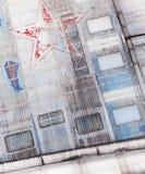 Textuur van het staalomhulsel van de Sovjet militaire vliegtuigen Stock Foto