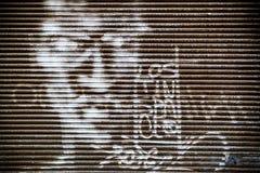 Textuur van het valhek in de oude stad Stock Foto
