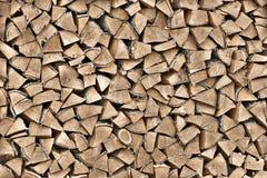 Textuur van hout op woodpile Stock Afbeelding