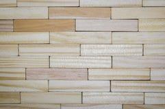 Textuur van houten bar, zelfde zoals bakstenen muur Royalty-vrije Stock Foto's
