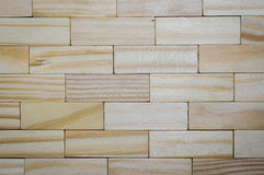 Textuur van houten bar, zelfde zoals bakstenen muur Stock Fotografie