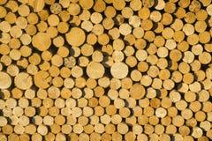 Textuur van houten logboeken voor ontwerpen, patroon voor achtergronden stock foto's