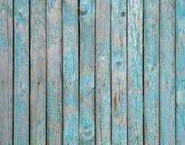Textuur van houten omheining die met groene verf wordt geschilderd Royalty-vrije Stock Afbeelding