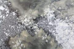 Textuur van ijs, bevroren water Royalty-vrije Stock Foto