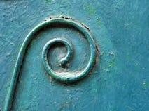Textuur van ijzer, detail van krul stock foto