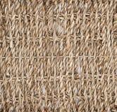 Textuur van ineengestrengeld stro, mand, boom Biodesign Milieuvriendelijke schotels stock afbeelding