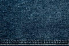 Textuur van jeansstof in hoge resolutie Royalty-vrije Stock Foto